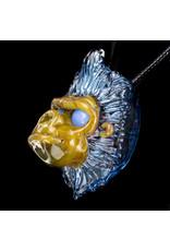 Blu Sun Glass Glass Pendant Wook #169 by Blu Sun