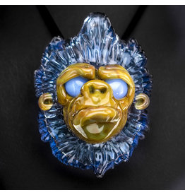 Blu Sun Glass SOLD Glass Pendant Wook #169 by Blu Sun