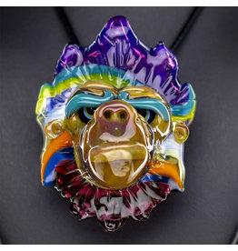 Blu Sun Glass SOLD Glass Pendant Wook #175 by Blu Sun