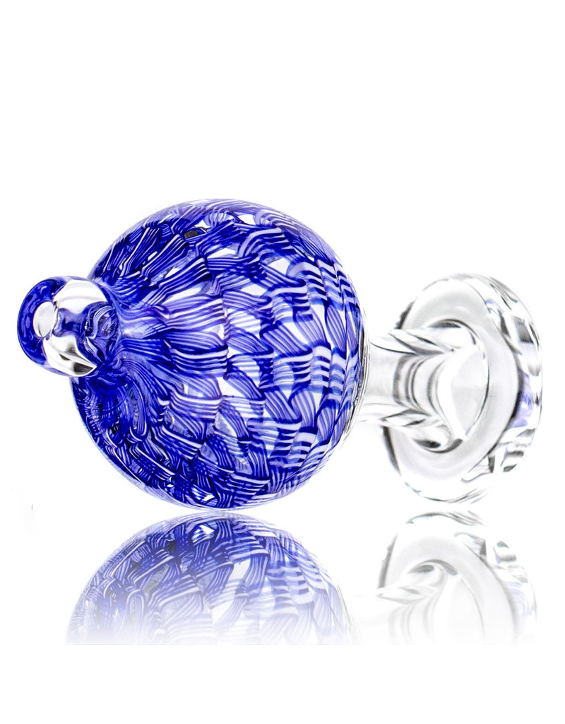 Keith Engelmann Carb Cap 25mm Bubble Cap lined BLUE Ribbon Coil by Keith Engelmann