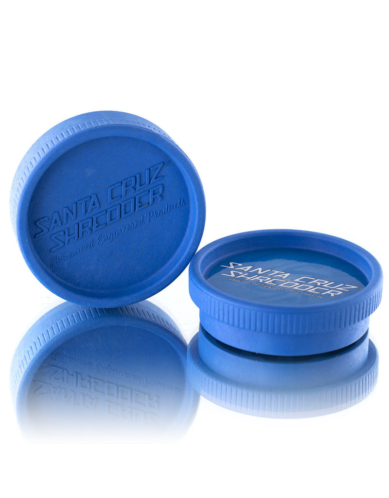 Santa Cruz Shredder BLUE 2 Piece Grinder MADE 100% from HEMP by Santa Cruz Shredder