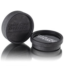 Santa Cruz Shredder BLACK 2 Piece Grinder MADE 100% from HEMP by Santa Cruz Shredder