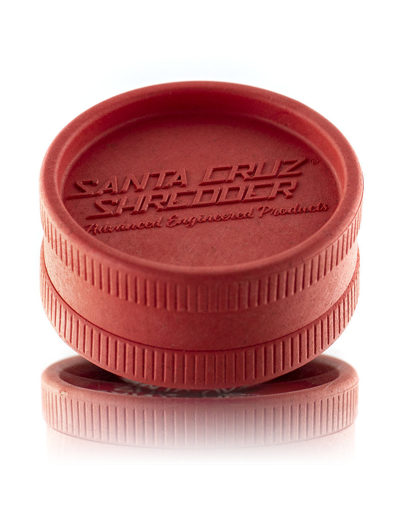 Santa Cruz Shredder RED 2 Piece Grinder MADE 100% from HEMP by Santa Cruz Shredder