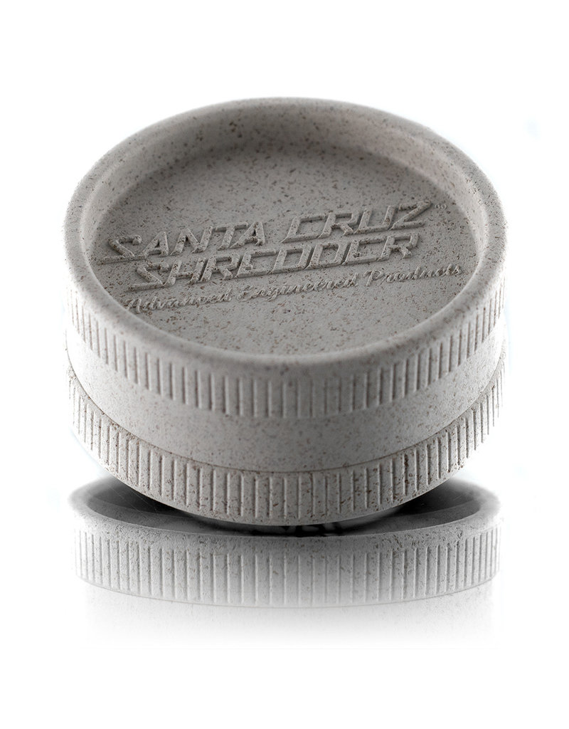 Santa Cruz Shredder WHITE 2 Piece Grinder MADE 100% from HEMP by Santa Cruz Shredder