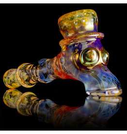 Jonathan Gietl x Ginny Snodgrass-Gietl SOLD Glass Pipe DRY by Top Hat by Jonathan Gietl x Ginny Snodgrass-Gietl