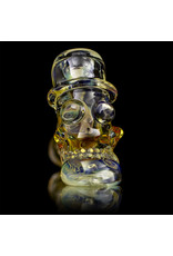 Bob Snodgrass Glass Pipe DRY Top Hat with Stars & Worked Stem by Bob Snodgrass