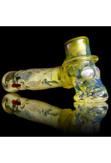 Bob Snodgrass Glass Pipe DRY Top Hat with Carbon Stem and UV Face by Bob Snodgrass