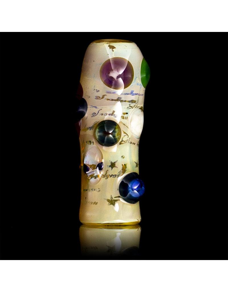 Bob Snodgrass Glass Bead with UV Accents Alien Bead (C) by Bob Snodgrass