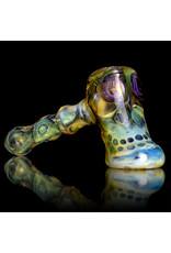 Brad Tenner Glass Pipe DRY Red Eye Hammer (L) by Brad Tenner BT Glass