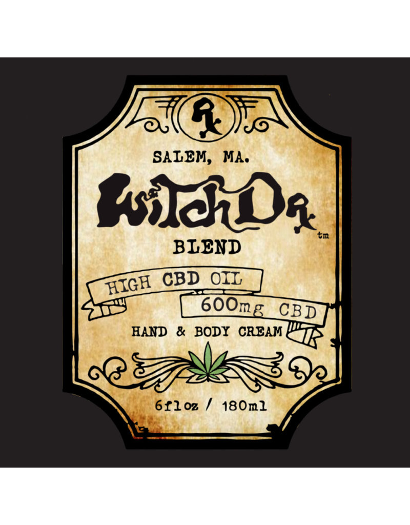 Witch DR Witch DR non-GMO CBD 600mg Hand and Body Cream