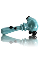 Soursilicate Glass Pipe DRY Hand Pulled AQUA Northstar Glass by Soursilicate