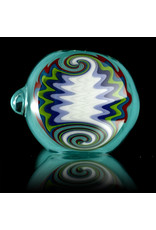 Jemmie Bandy Glass Pipe Inside Out Frit with Wig Wag Cap by Jemmie Bandy (B)
