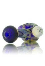 Glass Pipe Frosted Zig Zag COBALT with Fume Accents by Willow Gayton
