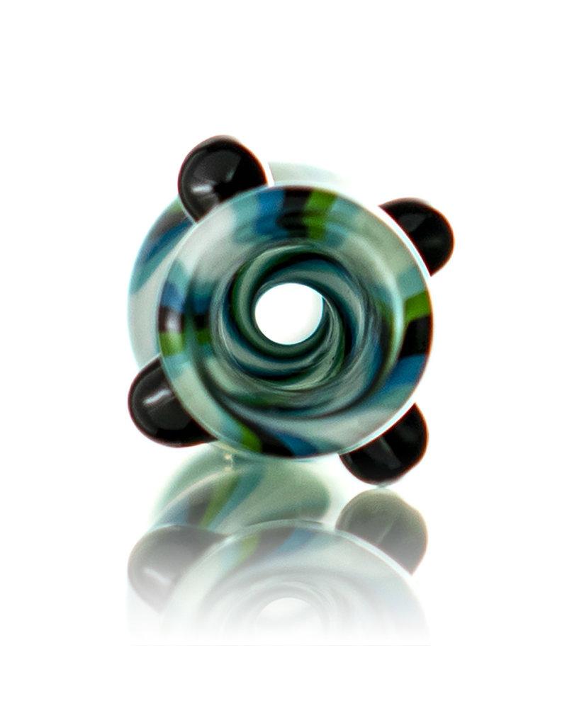Brickyard Glass Glass One Hitter Wig Wag Line Worked Chillum (A) by Brickyard Glass