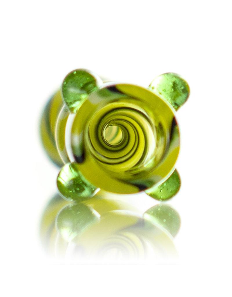 Brickyard Glass Glass One Hitter Wig Wag Line Worked Chillum (C) by Brickyard Glass