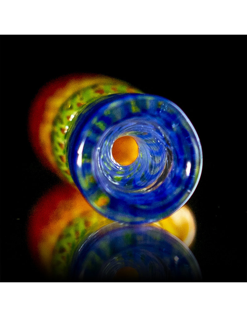 Key Glass Co Glass One Hitter Rainbow Coil Chillum (C) by Key Glass