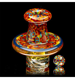 Hollinger SOLD Directional Airflow Carb Cap (E) Quadrant Murrine Spinner Set by Zach Hollinger