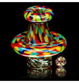 Hollinger Directional Airflow Carb Cap (A) Rainbow Chipstack Spinner Set by Zach Hollinger