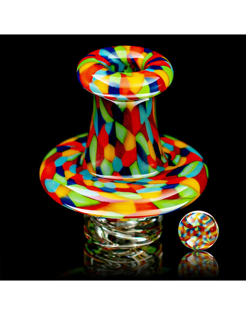 Hollinger Directional Airflow Carb Cap (B) Rainbow Chipstack Spinner Set by Zach Hollinger