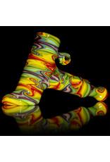 Dan Longden Glass Pipe DRY Rainbow Hammer by Dan Longden