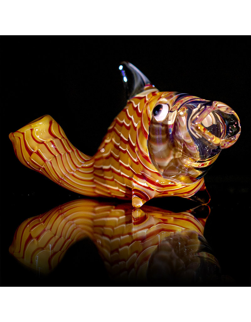 Key Glass Co Glass Pipe Dry One Hitter Fish Coil (A) by Key Glass Company