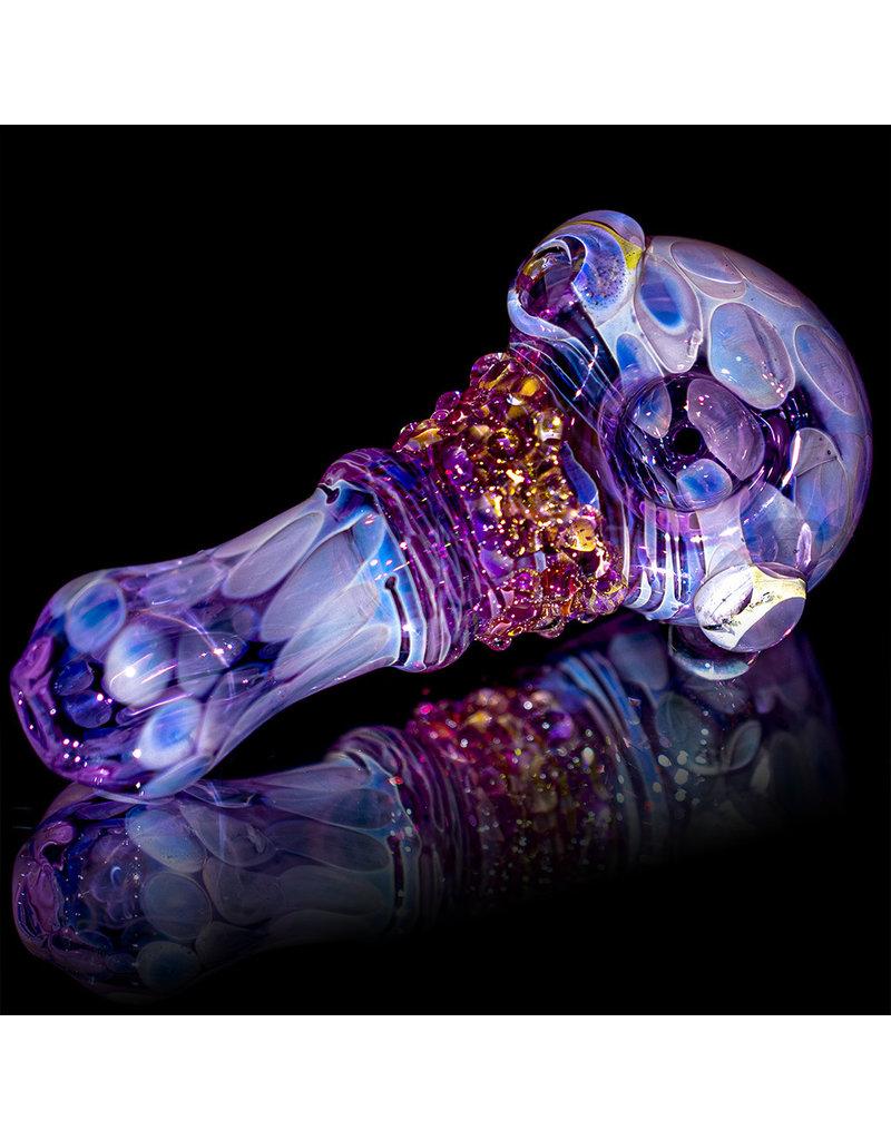 """Koy Glass 4"""" Glass Pipe Dry Purple Princess (B) by Koy Glass"""