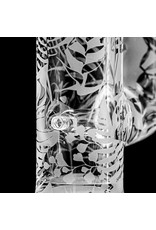 Witch DR 18mm 44x4 Etched Glass Water Bong with Matching Slide 'Jurassic Smoker' by Witch DR Studio