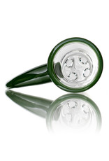 """Witch DR 18mm 44x4 14"""" Glass Water Bong with Matching Slide Rx Color Inline GREEN"""