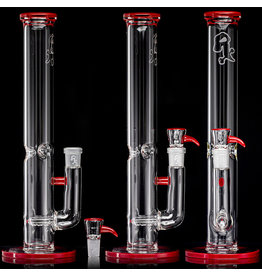 "Witch DR 18mm 44x4 14"" Glass Water Bong with Matching Slide Rx Color Inline RED"