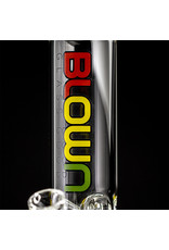 "14mm 50x5 12"" Tube Water Bong with slide and removable downstem 'RASTA' by Blown Glass Goods"