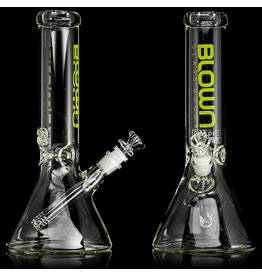 "14mm 50x5 12"" Beaker Water Bong with slide and removable downstem LIME by Blown Glass Goods"