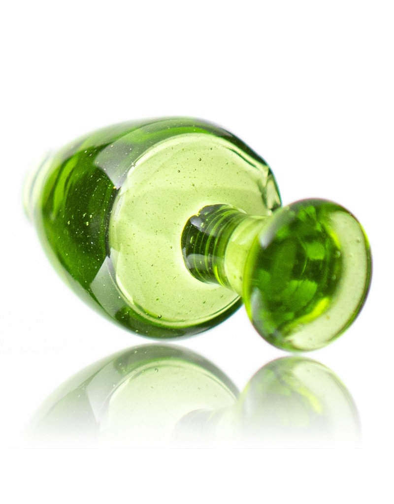 Witch DR Puffco Peak Bubble Carb Cap Translucent GREEN by Witch Dr