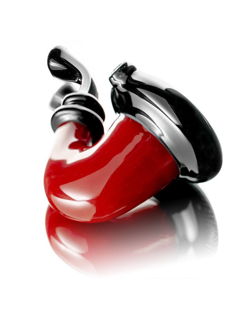 JMass Glass Pipe Dry RED Sherlock by JMass Glass