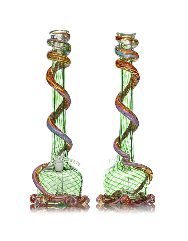 """Special K 14mm 14"""" Special K Soft Glass Water Bong Medium Wrapped Color (D) with removable Downsten and Slide"""