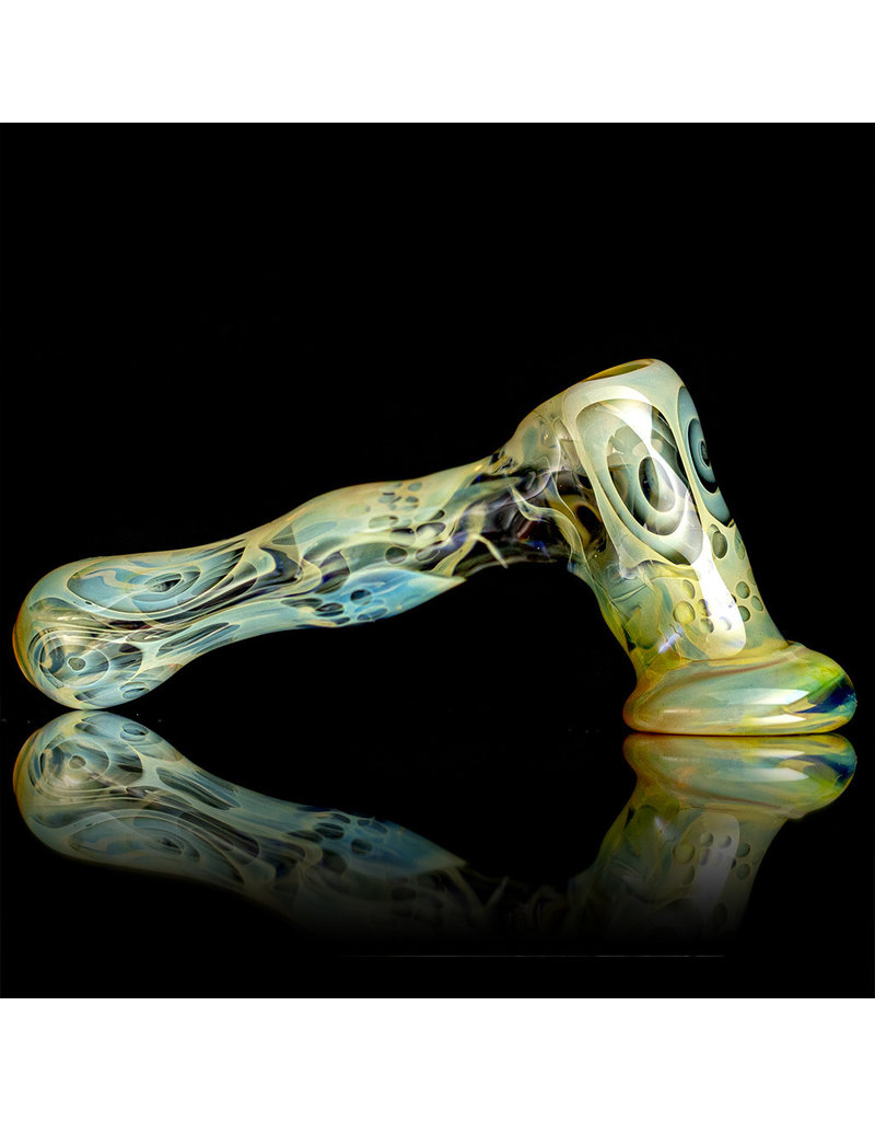 "Brad Tenner 6.25"" Brad Tenner Large Fume Skull Hammer (D) by BT Glass"