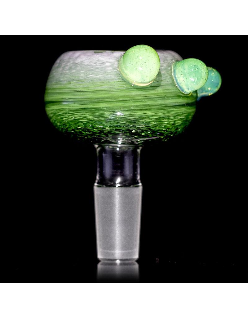 David Baker 14mm Glass Bong Bowl Slide Inside Out Frit (D) by David Baker