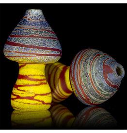 Stone Tech Glass Batch.212 Glass One Hitter Mushroom Marble Chillum by Stone Tech Glass