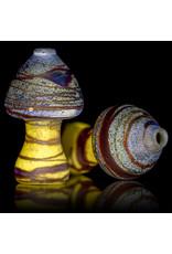 Stone Tech Glass Batch.244 Glass One Hitter Mushroom Marble Chillum by Stone Tech Glass