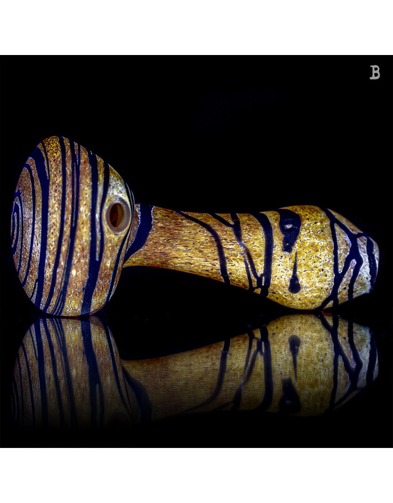 Stone Tech Glass BATCH.399 Frosted Glass Pipe Purple Sands Marble Stone Pipe Stone Tech