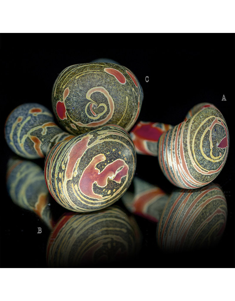 Stone Tech Glass BATCH.332 Frosted Marble Stone Pipe Stone Tech