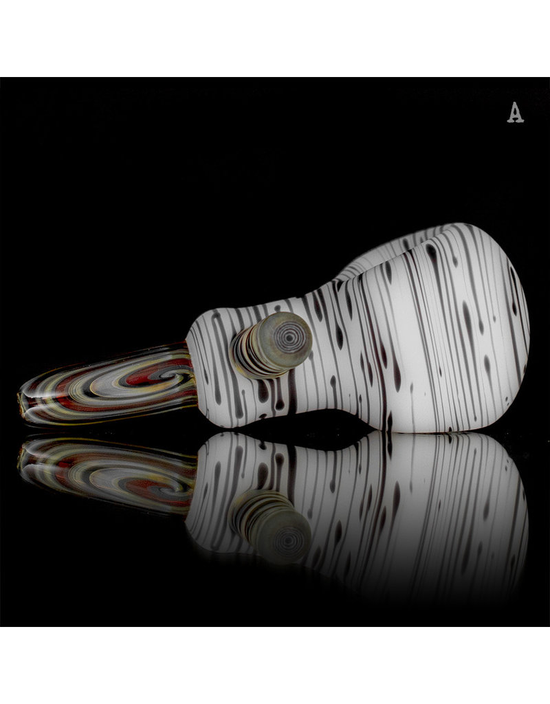 Witch DR BATCH.303 Glass Pipe  Dry Classic Frosted Engelmann Birch with Woodgrain Handle
