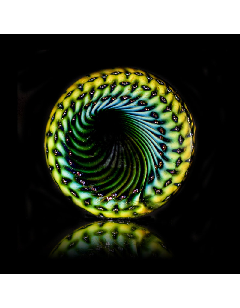 Steve Sizelove Glass Marble Loveday Bubbletrap Marble 29 by Steve Sizelove
