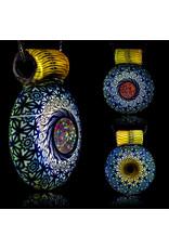 Steve Sizelove Glass Pendant Loveday Fumetech Bubbletrap Pendant 31 by Steve Sizelove