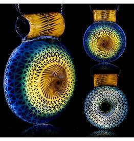 Steve Sizelove SOLD Glass Pendant Loveday Fumetech Bubbletrap Pendant 32 by Steve Sizelove