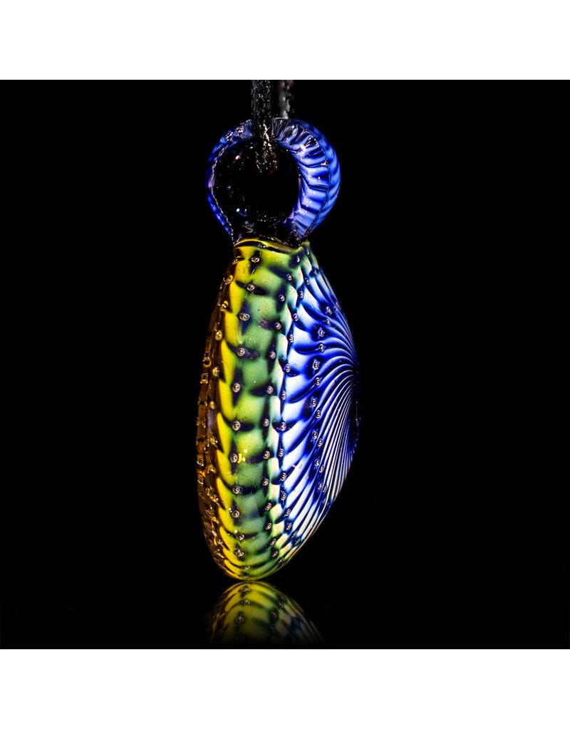 Steve Sizelove Glass Pendant Loveday Fumetech Bubbletrap Pendant 33 by Steve Sizelove