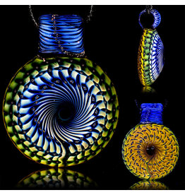 Steve Sizelove SOLD Glass Pendant Loveday Fumetech Bubbletrap Pendant 33 by Steve Sizelove