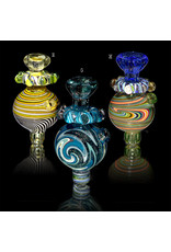 Fidget Glass BATCH.626 25mm Bubble Carb Cap Fidget Spinner by Keith Engelmann
