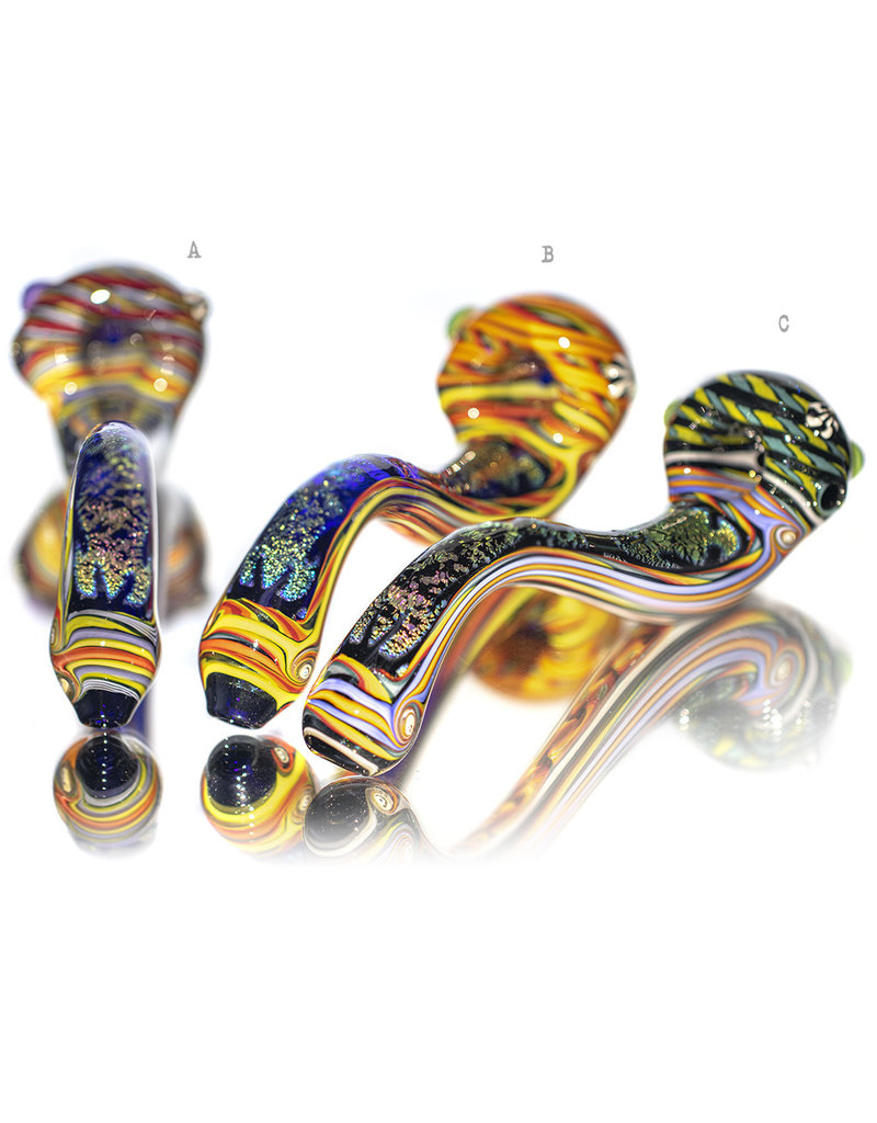 "Lab Rat Glass BATCH.123 8"" Heady Dichro Handlock by LabRat Glass"