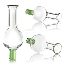 Bubble Carb Cap 30mm Clear w/ GREEN Honeycomb Tip by Blazing Blue Glass