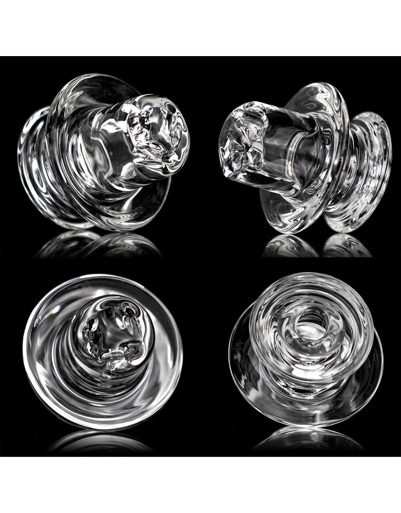 NeverFallin Directional Airflow Spinner Carb Cap  in Clear, Silver Fume or Dichro by NeverFallin